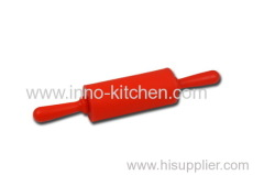 Silicone Rolling Pin With Plastic Handle