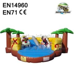 Inflatable Coco Pirate Island Playground Jumping Castle and Slide
