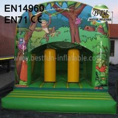 Beautiful Jungle Outdoor Bounce House and Forest Castle