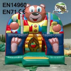 Inflatable Cute Bear Bouncy Castle and House
