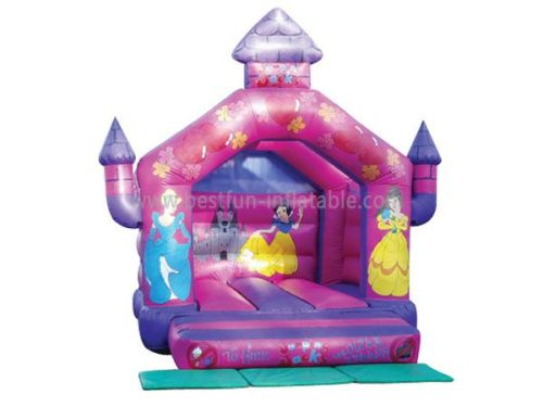 Small Princess Children Inflatable Pink Castle