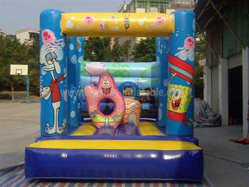 Cute Inflatable Spongebob Bouncer