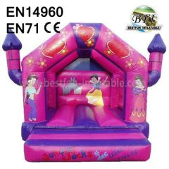 Pink Inflatable Princess Palace Bouncy Castles