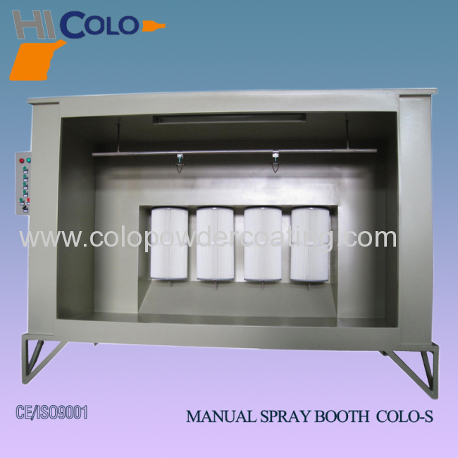 Simple manual spray booth
