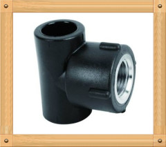 2013 hot sale HDPE Equal Tee 90D HDPE 100 plumbing material PE Butt Welding fittings
