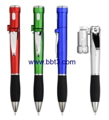 Promotional LED lighting ballpen with nail scissor