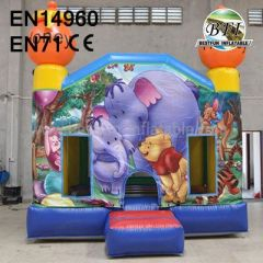 Lovely Inflatable Winnie The Pooh Castle for Kids