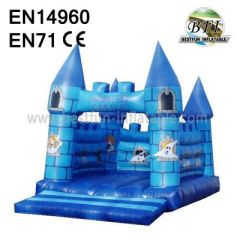 Blue Holiday Inflatable Haunted Castle