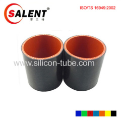 Automotive straight silicone hose Black inside red outside