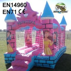 inflatable commercial princess bouncer