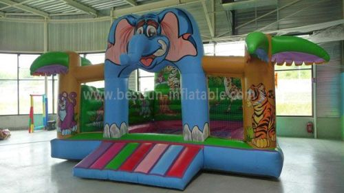 Pvc Inflatable Jumping Castles With Jungle
