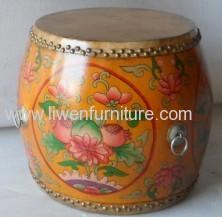 Antique reproduction painted drum