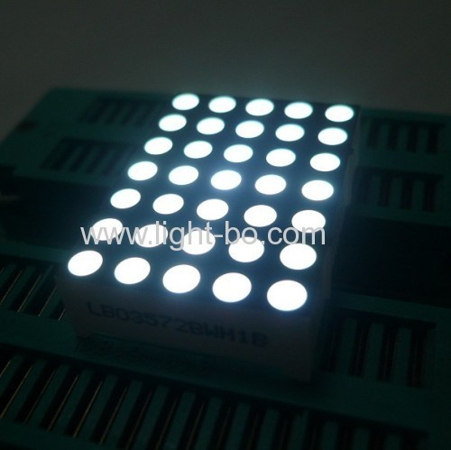 1.263mm 5 x 7 Blue dot matrix led display for moving signs,message boards