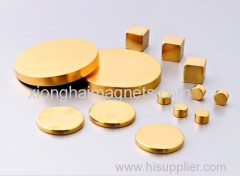 China supplier Gold Plated Rare Earth Neodymium Magnet and NdFeB Magnet for sale