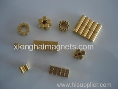 Strong Gold plating NdFeB magnets
