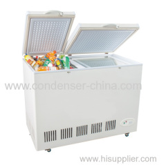 198L R600a double door opening freezer