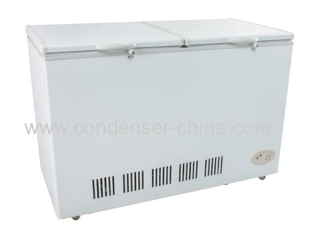 Horizontaldouble door opening refrigeration