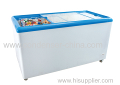 glass door 500L chest freezer