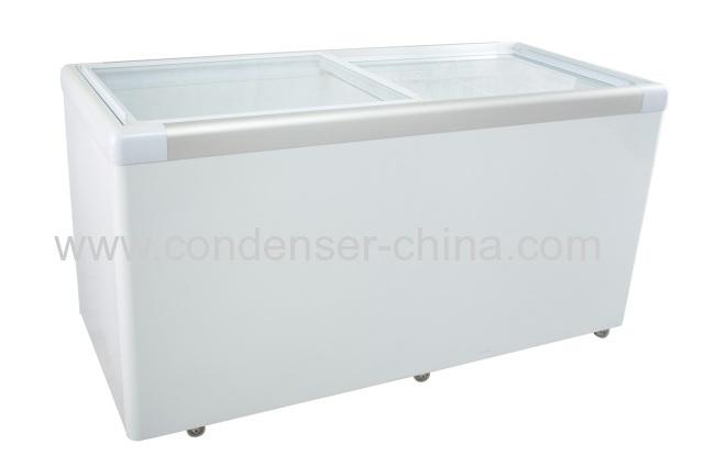 Horizontalglass doorrefrigeration