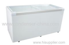 510L chest glass door refrigeration