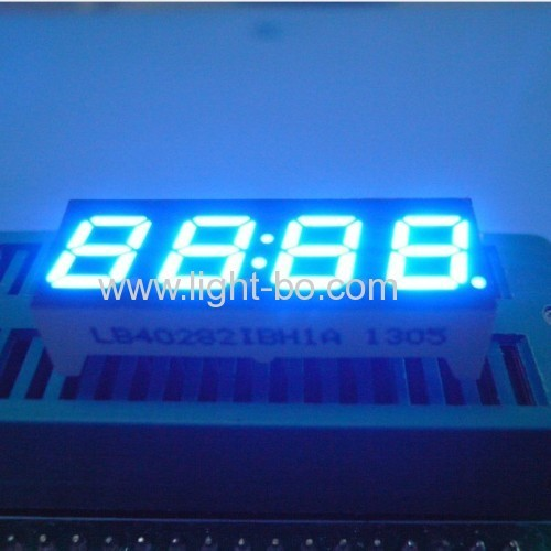 4-Digit 7mm (0.28 ) Anode Blue 7- Segment LED Display, 30.2 x 11 x 6 mm