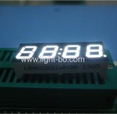 Four-Digit 7mm anode white 7 segment led cloc display