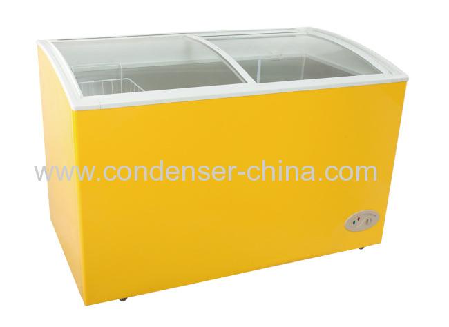 Horizontalcurved glass doorrefrigeration