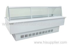 718L Curved frozen food display cabinet