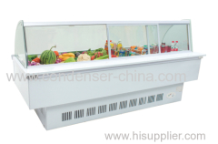 718L Curved commercial use frozen food display cabinet