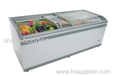 SD-720 commercial glass island freezer