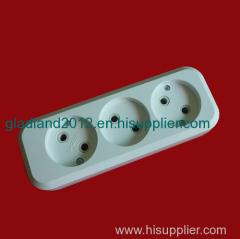 3 gang extension socket european style