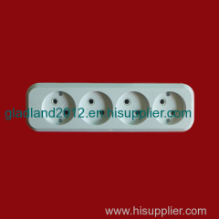 european 4 gang extension socket without earthing