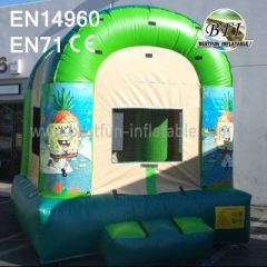 Inflatable SpongeBob Bounce House With Website Banner