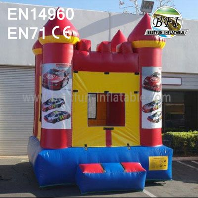 Commercial Inflatables Nascar Bouncer With Banner