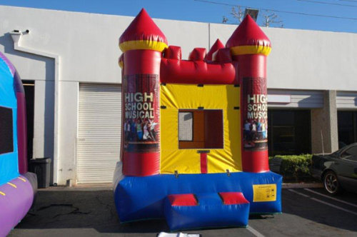 Small Red Inflatable School Bouncer