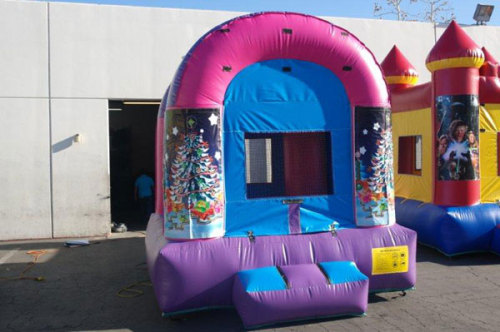 Mini Pink Inflatable Christmas Castle