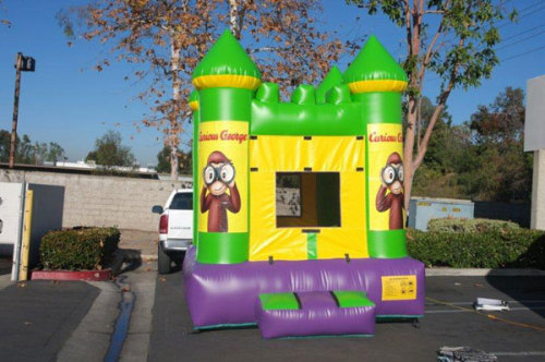 Inflatable Curious Bounce House With Website