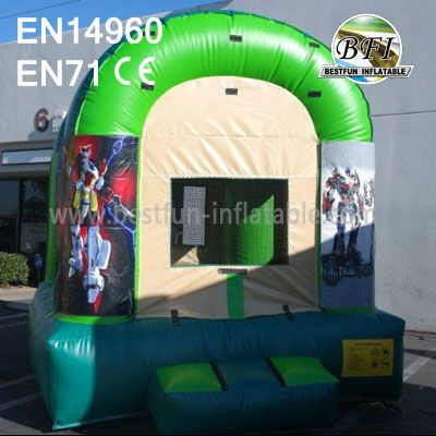 Mini Green Inflatable Transformers Bounce House