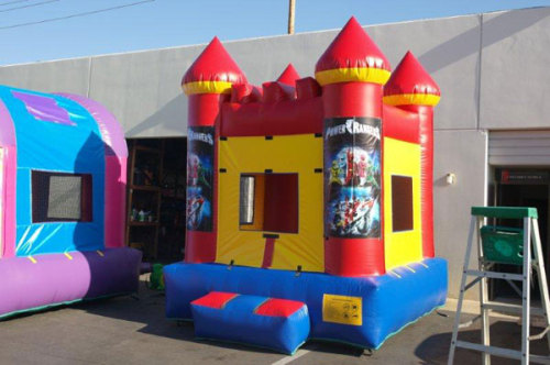 Red Bounce House Power Rangers Inflatables