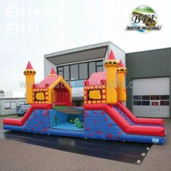 Inflatable Suspension Bridge Bouncer Slide