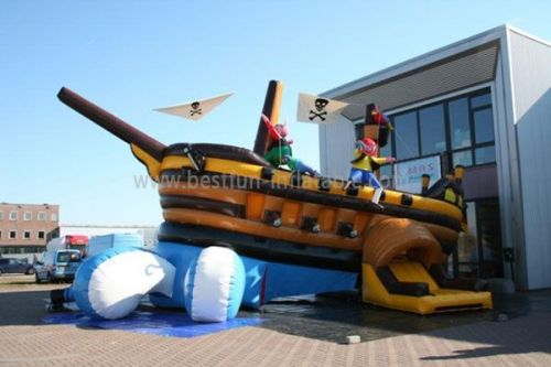 Movable Pirate Ship Bounce House