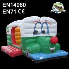 Cute Puppy Inflatable Baby Bouncer