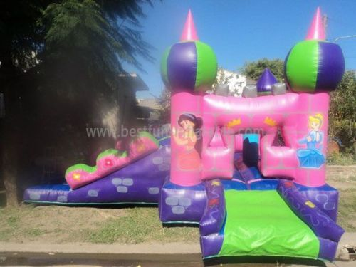 High Quality Princess Inflatable Bounce Moonwalks