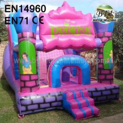 Backyard Pink Princess Bouncy Castles