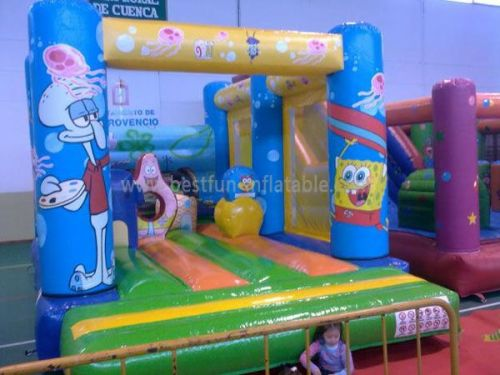 Spongebob Inflatable Moonwalks For Kids