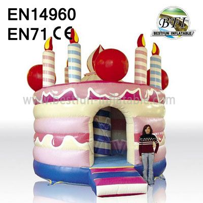 Inflatable Birthday Cake Bouncers