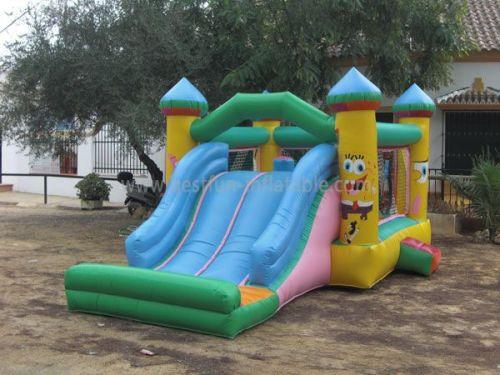 Kids Spongebob Inflatable Combo Slides