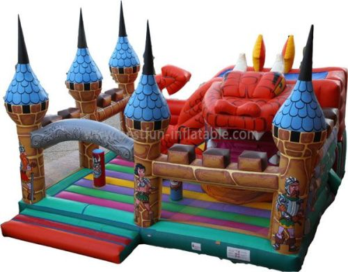 Kids Inflatables Dragon Castle Combo