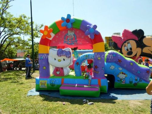 Hello Kitty Inflatable Bounce House With Slide