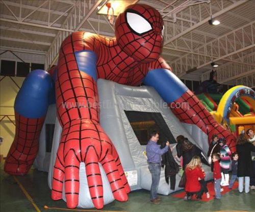 Spiderman Inflatable Bouncers Jumping